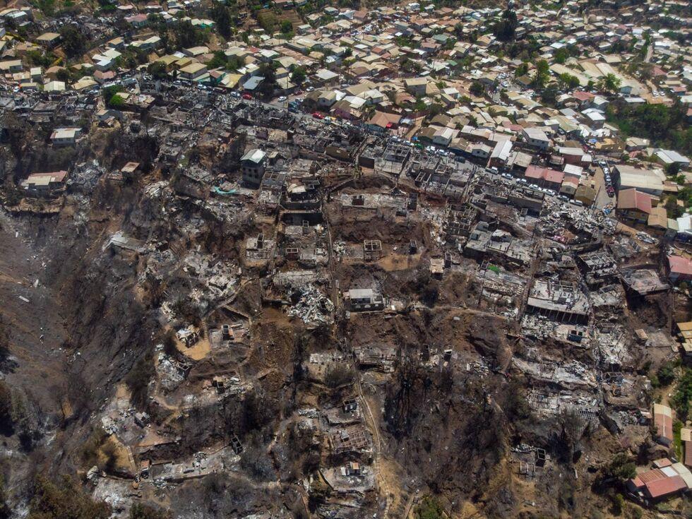 26. Dezember 2019: Schwere Waldbrände haben in der chilenischen Hafenstadt Valparaíso über Weihnachten rund 245 Häuser zerstört oder teilweise beschädigt.