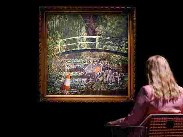 """Show me the Monet"" von Banksy"