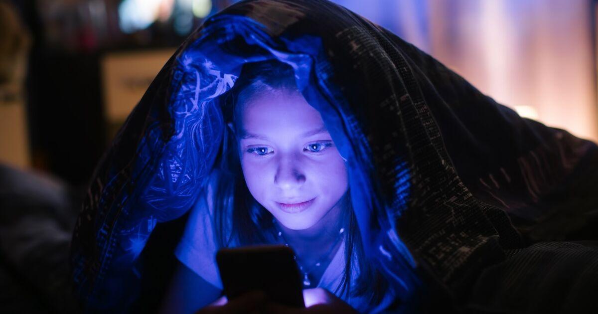 Blaues Licht Handy