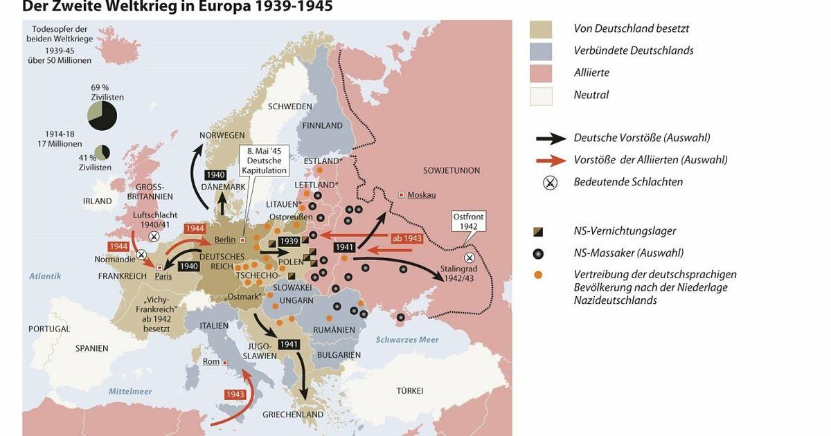 Deutsches Reich Karte 1943.Chronologie Des Zweiten Weltkriegs Sn At