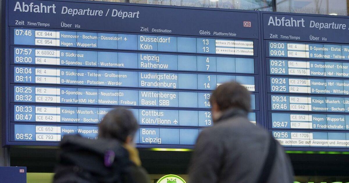 Streik Deutsche Bahn Ersatzfahrplan