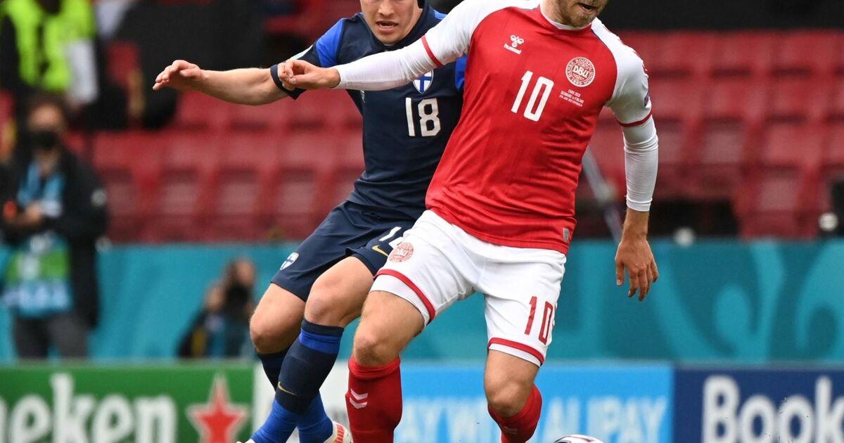 EM-Spiel Dänemark-Finnland unterbrochen - Notfall bei ...