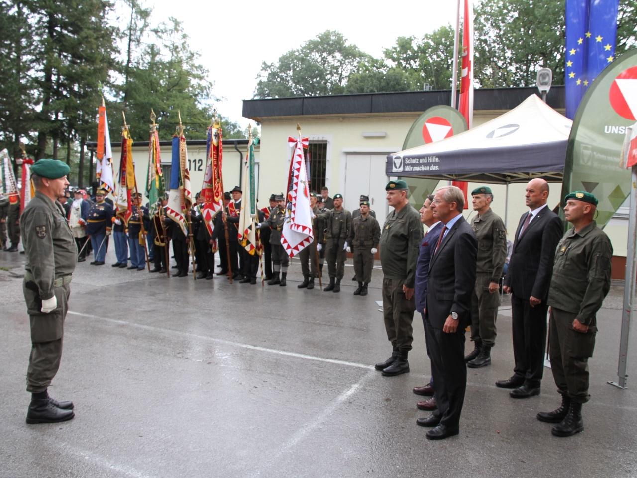 Festakt in der Schwarzenberg-Kaserne: Anton Waldner übernimmt das Militärkommando Salzburg