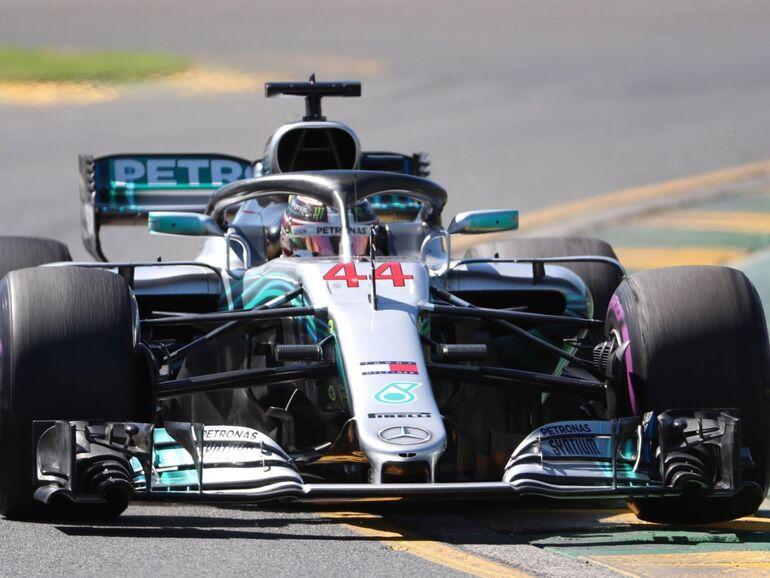 Formel 1 Mercedes Star Lewis Hamilton In Melbourne Voran Snat