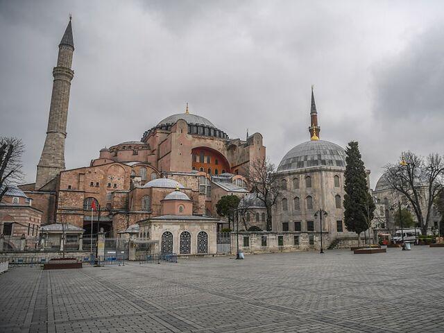 Hagia Sophia was the largest Christian church