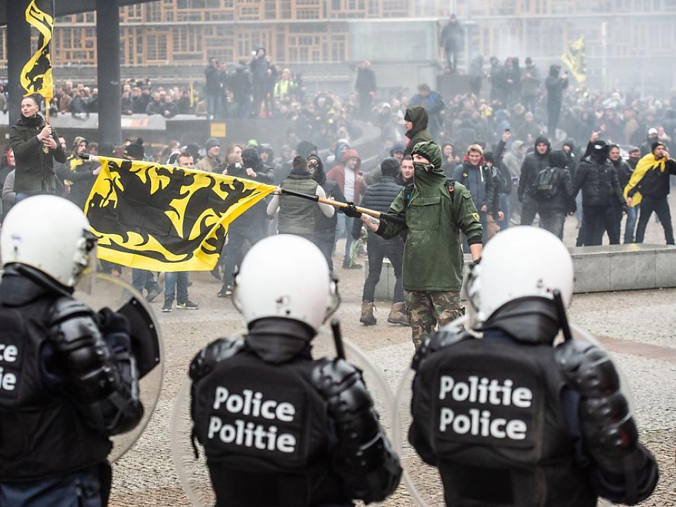 Gewalt bei Rechten-Kundgebung in Brüssel