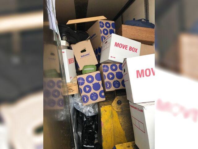 Demasiado es demasiado: toneladas de queso, transporte de mercancías y máquinas & # 8211; y todo ello en un día en el que esta mercadería no debería haber sido transportada.