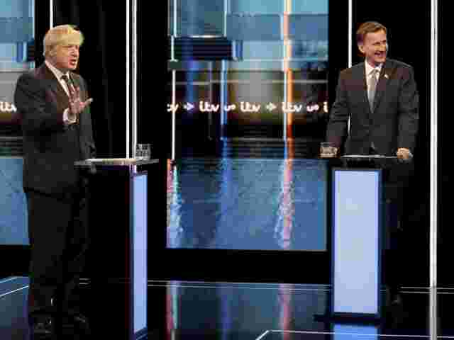 TV-Duell: Boris Johnson und Jeremy Hunt.