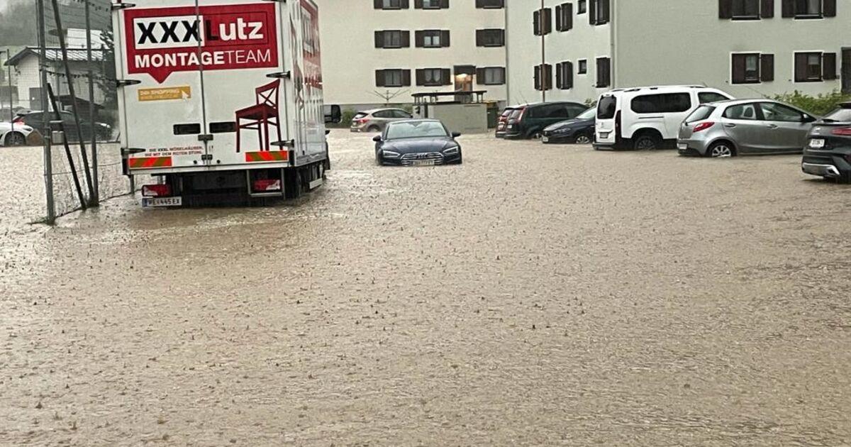 Heftige Gewitter in Salzburg: Zivilschutzalarm in St. Johann, dritte Mure in Wald