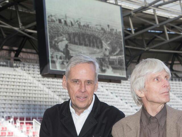 Initiator Klaus Littmann und Architekt Max Peintner