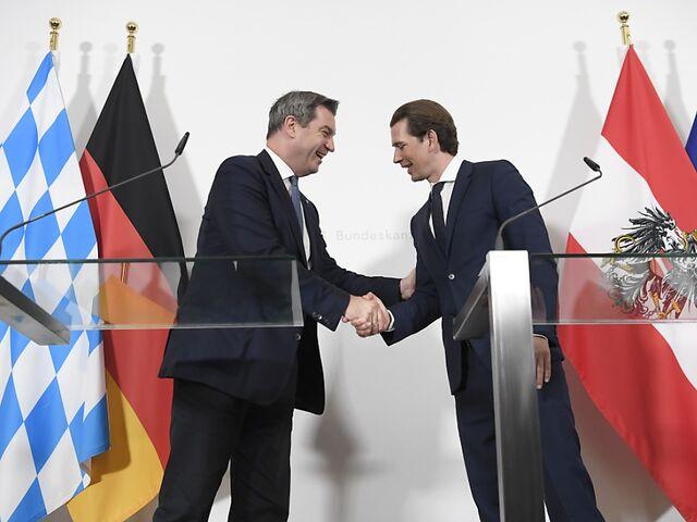 Kurz und Söder gegen EU-Kooperation mit Rechtspopulisten