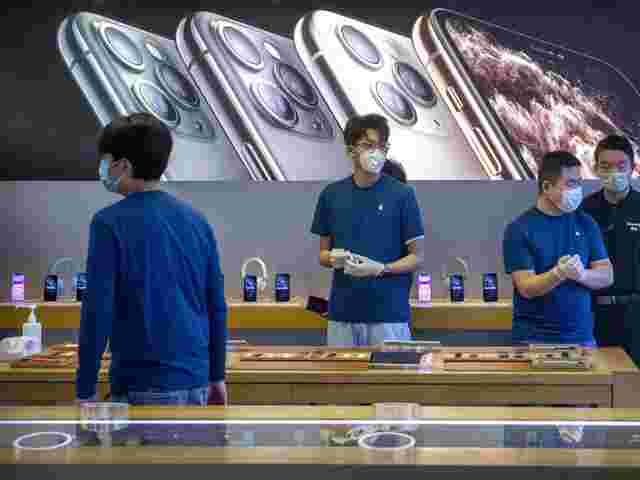 Apple Store in Peking am 14. Februar 2020.