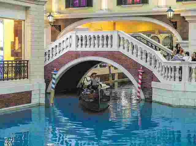 "Ein Tag ""Indoor-Venedig"" im ""Venetian Casino Resort""."