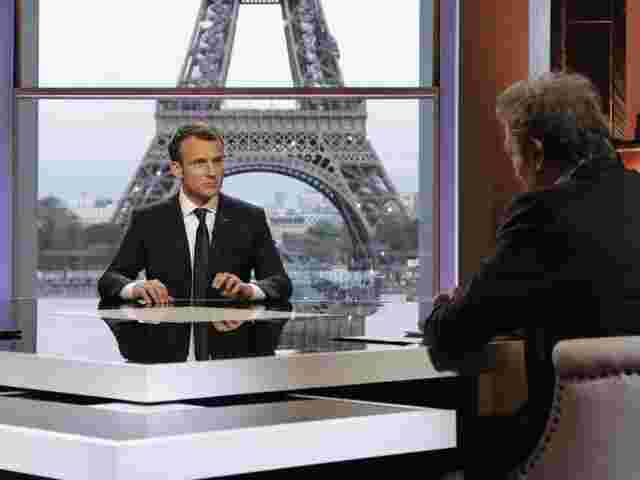 Emmanuel Macron im TV-Interview