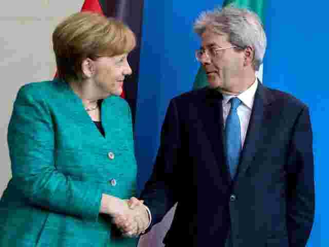 Merkel und Gentiloni wollen neue Prioritäten im EU-Haushalt