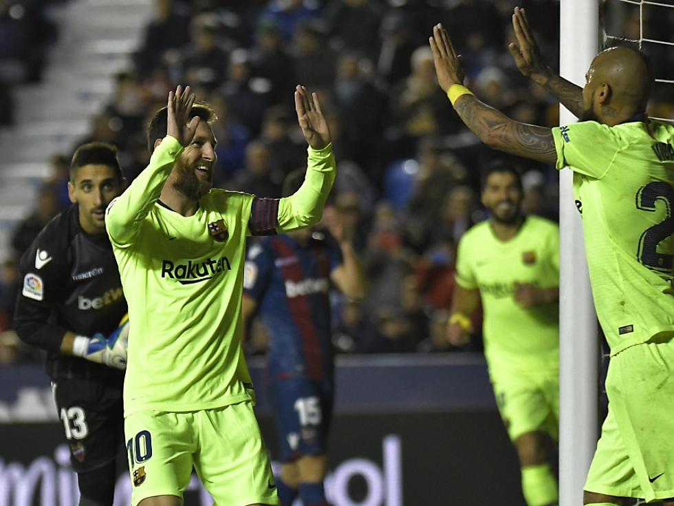 Messi-Show bei Barcelonas 5:0 gegen Levante
