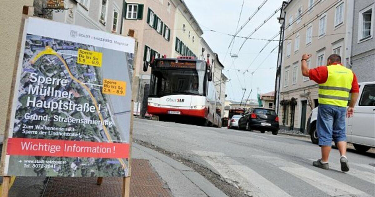 Müllner Hauptstraße eine Woche lang gesperrt  SN.at