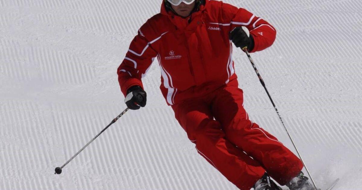 Nach dem carven kehren wir zurück zum schön skifahren sn at