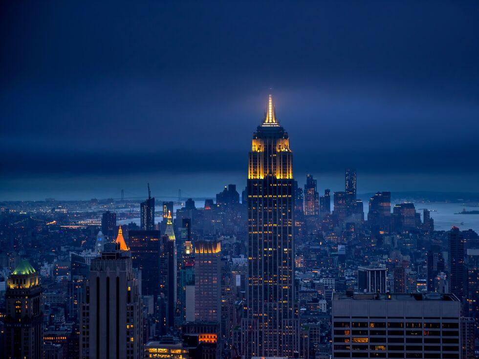 New York ist nun eine Stadt, die schläft