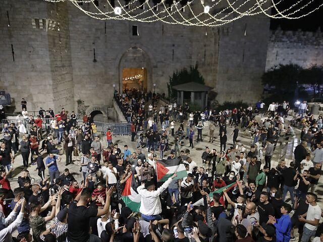 Las protestas han estado ocurriendo en la Ciudad Vieja de Jerusalén durante varios días.