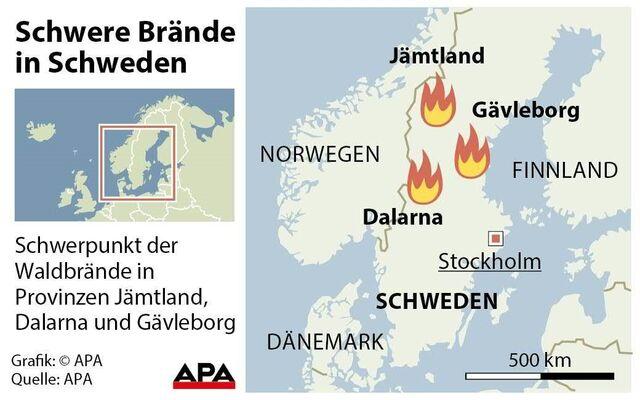 Schweden Waldbrände Karte.Schweden Muss Auf Regen Hoffen Sn At