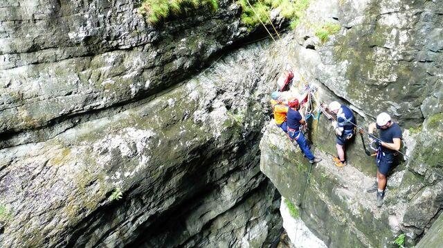 Klettersteig Postalm : Postalmklamm klettersteig mit f variante bergsteigen