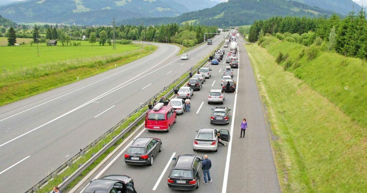 Stau Salzburg A10