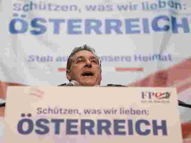 Heinz-Christian Strache am Freitag in der Wiener Lugner-City.