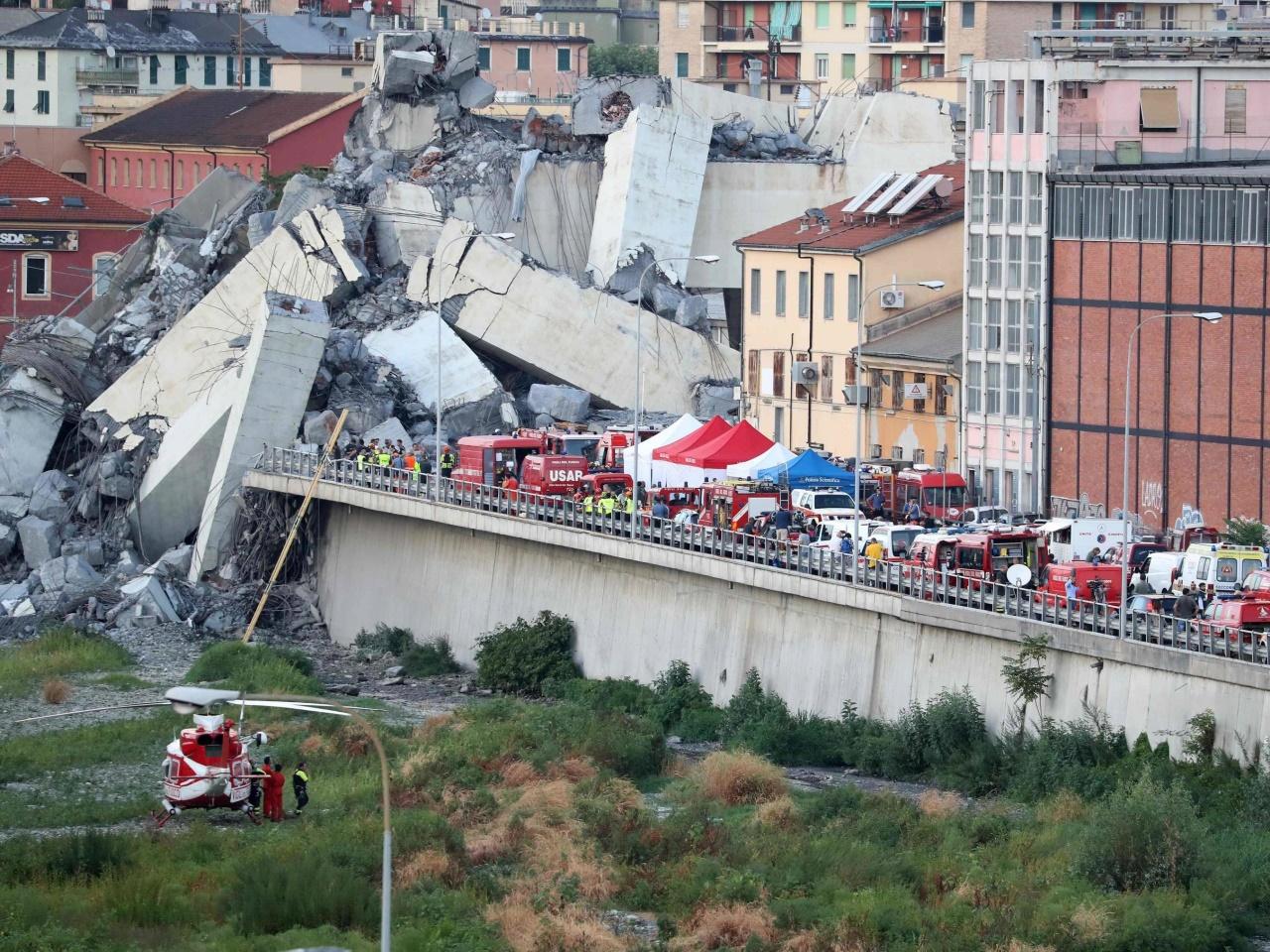 Viele Tote und Verletzte bei Brückeneinsturz in Genua
