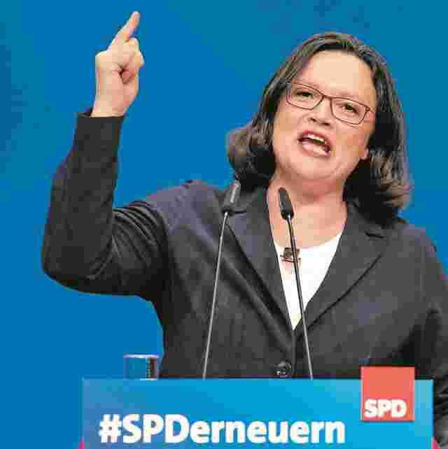 Andrea Nahles ist neue SPD-Parteivorsitzende