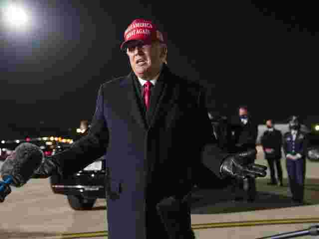 US-Präsident Donald Trump auf dem Gelände des General Mitchell International Airport in Milwaukee.
