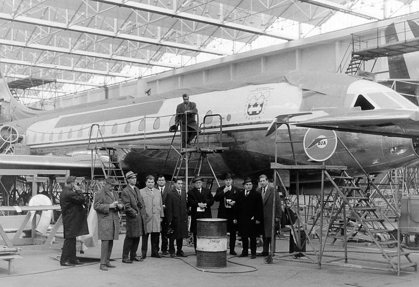Südfrankreich Sud Aviation Austrian Airlines Caravele 1962