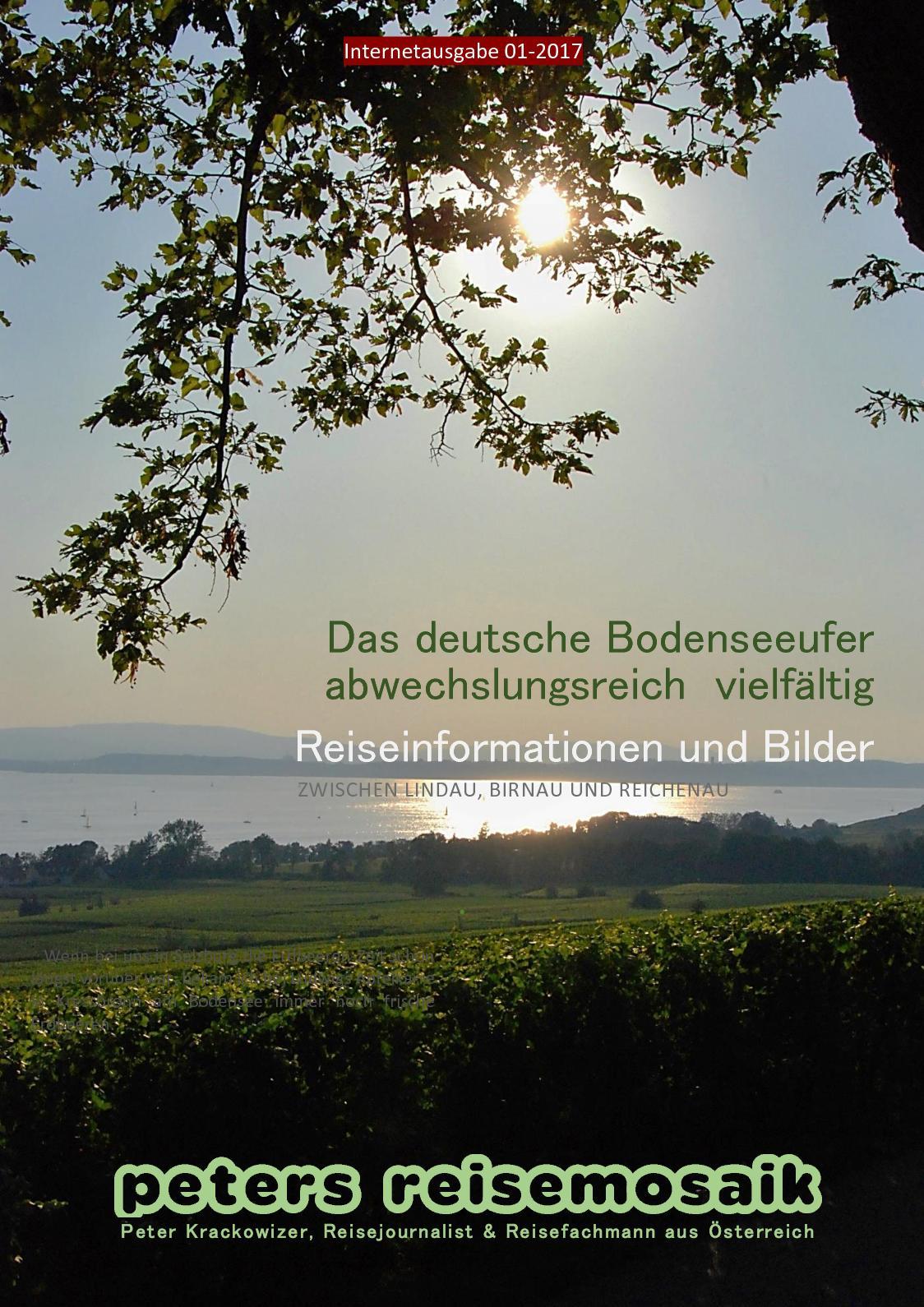 Bodensee-Reisemagazin von Peter Krackowizer, anklicken und im Internet lesen