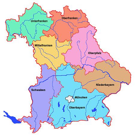 Schwaben Karte Deutschland.Freistaat Bayern Salzburgwiki