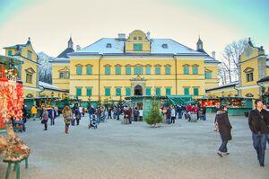 Schloss Hellbrunn Weihnachtsmarkt.Hellbrunner Adventzauber Salzburgwiki