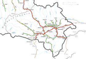 Steiermark Karte Flüsse.Lungau Salzburgwiki