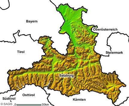 Bundesland Karte Mit Städten.Salzburg Bundesland Salzburgwiki